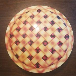 Vintage cherry pie tin